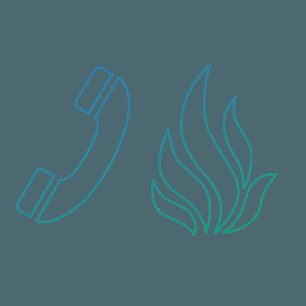 Fire Refuge Icon Graduated